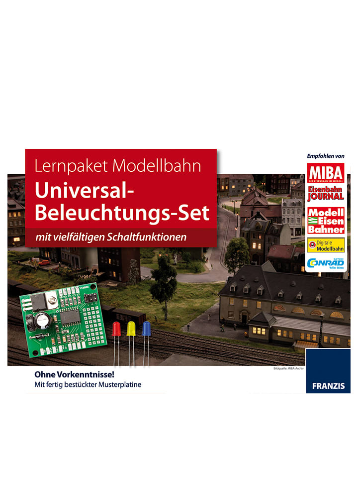 FRANZIS Lernpaket Modellbahn: Universal-Beleuch...