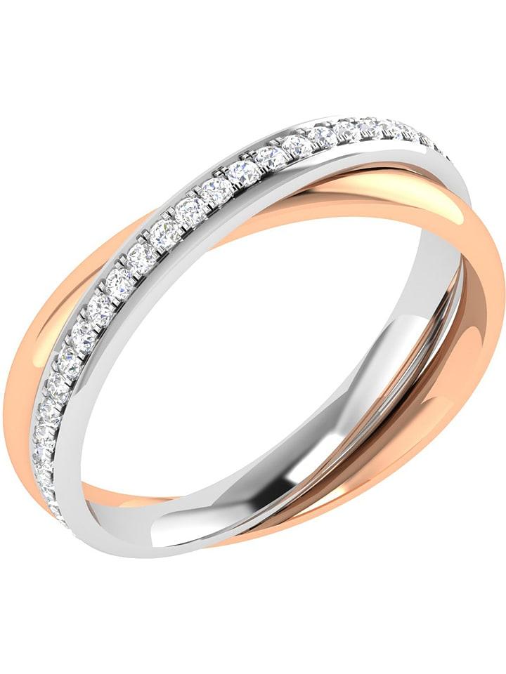 Art of Diamond Roségold-/Weißgold-Ring mit Diam...