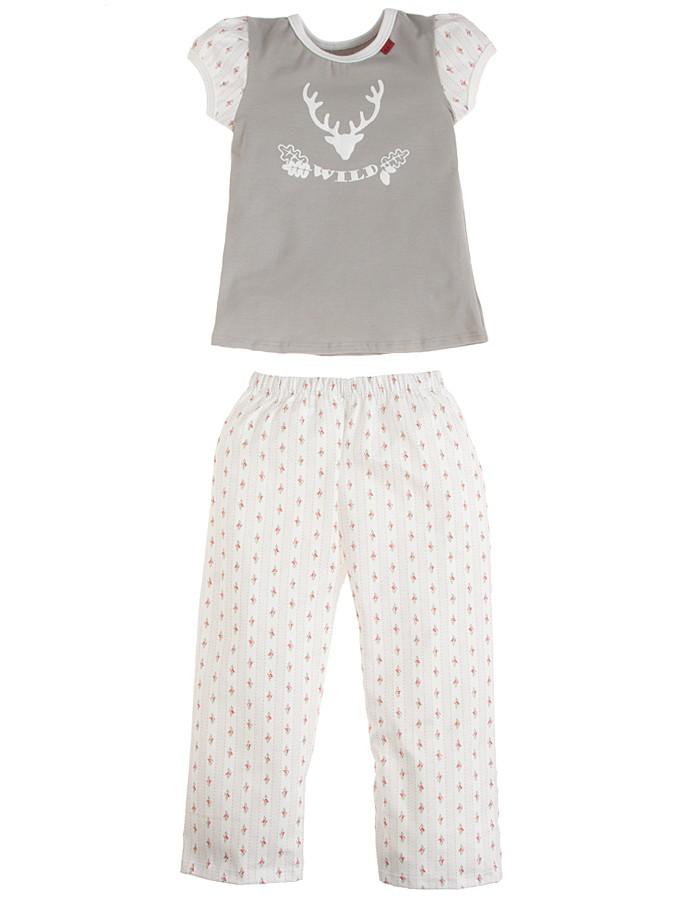 667 Pyjama ´´Wild´´ in grau -52 Größe 86 92 Pyjamas