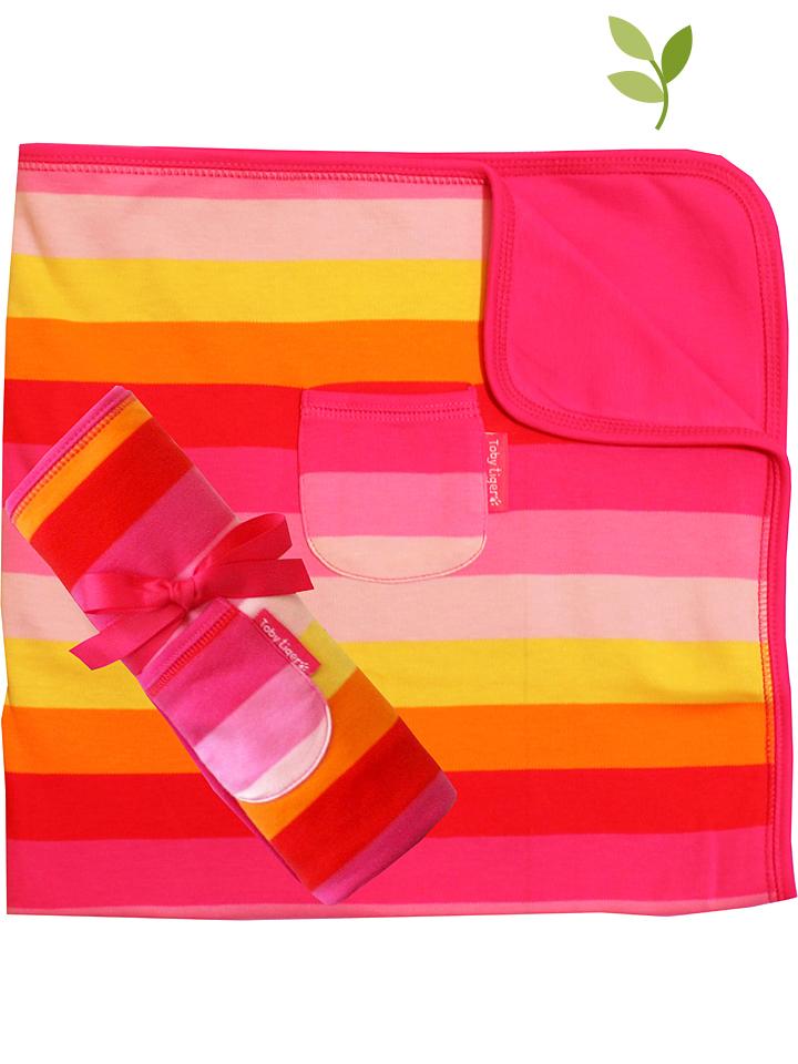 Toby Tiger Decke in Rosa - (L)70 x (B)70 cm - 3...