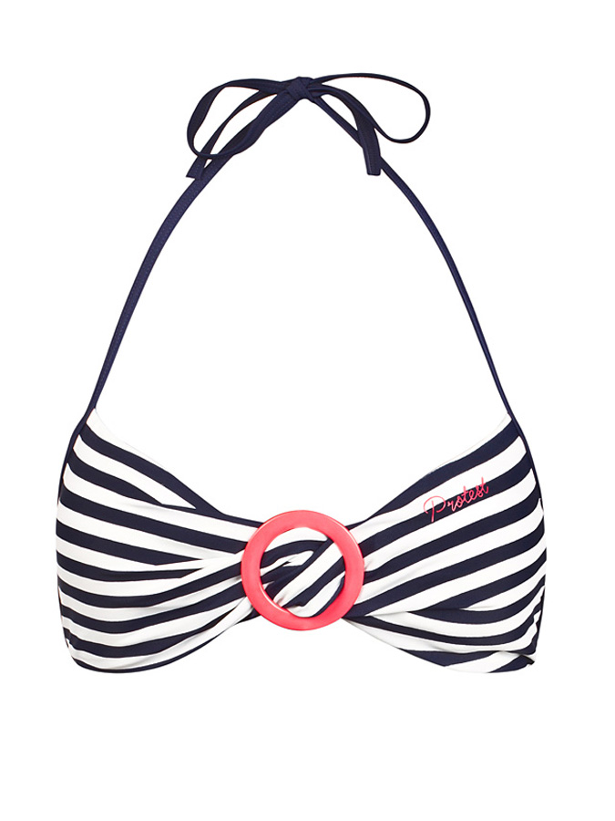 Protest Bikini-Oberteil in dunkelblau -63% | Größe L Bikini Sale Angebote Horka