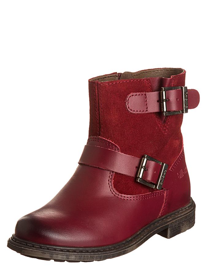 Billowy Leder-Boots in Bordeaux -50%   Größe 32 Boots Sale Angebote Gastrose-Kerkwitz
