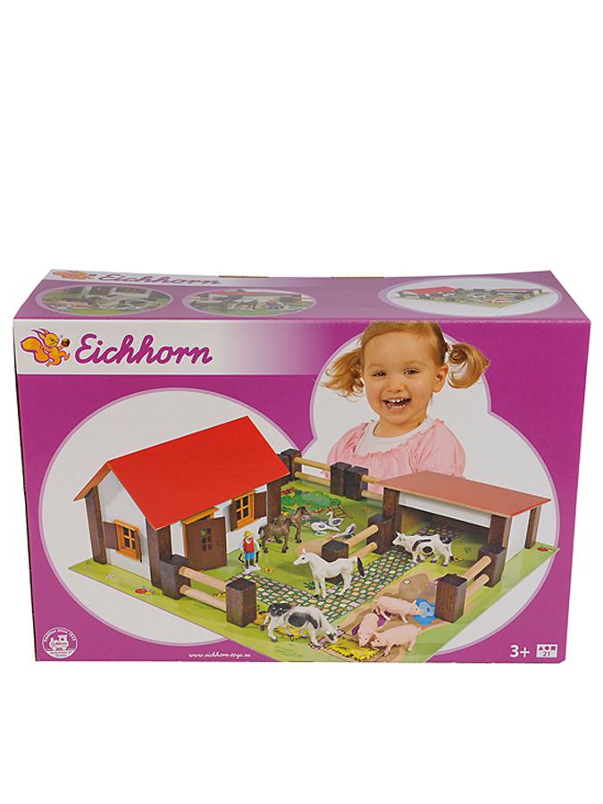 Eichhorn Kleiner Bauernhof mit Zubehör - ab 3 Jahren -36%   Holzspielzeug