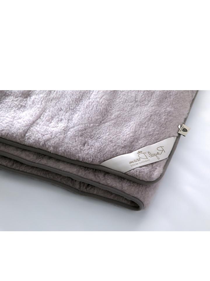 Royal Dream Woll-Decke in Grau - 64% | Größe 16...