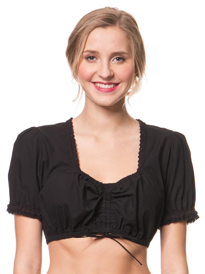 Lekra Fashion Dirndlbluse ´´Bella´´ in Schwarz -33% | Größe 46 Dirndlblusen Sale Angebote Bagenz