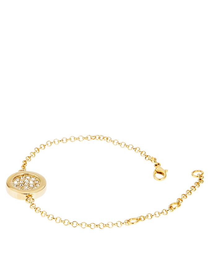 Destellos Vergold. Armkette mit Schmuckelement ...