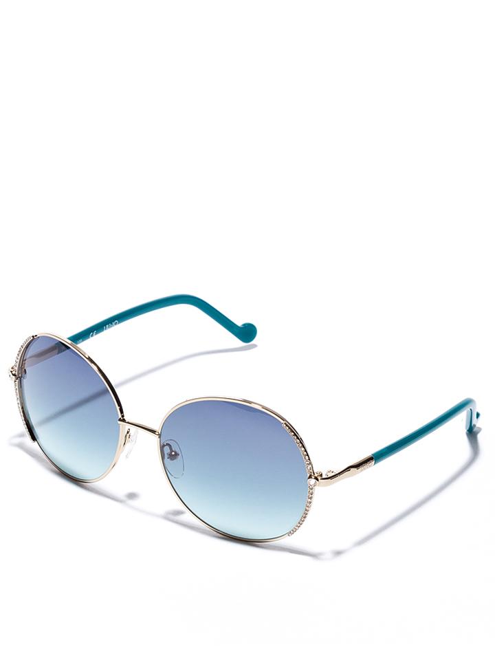 Liu Jo Damen-Sonnenbrille in gold Türkis -48 Größe 59 Sonnenbrillen