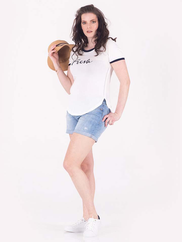By Julia Shirt in weiß -65%   Größe 48/50 T-Shirts Sale Angebote Schipkau