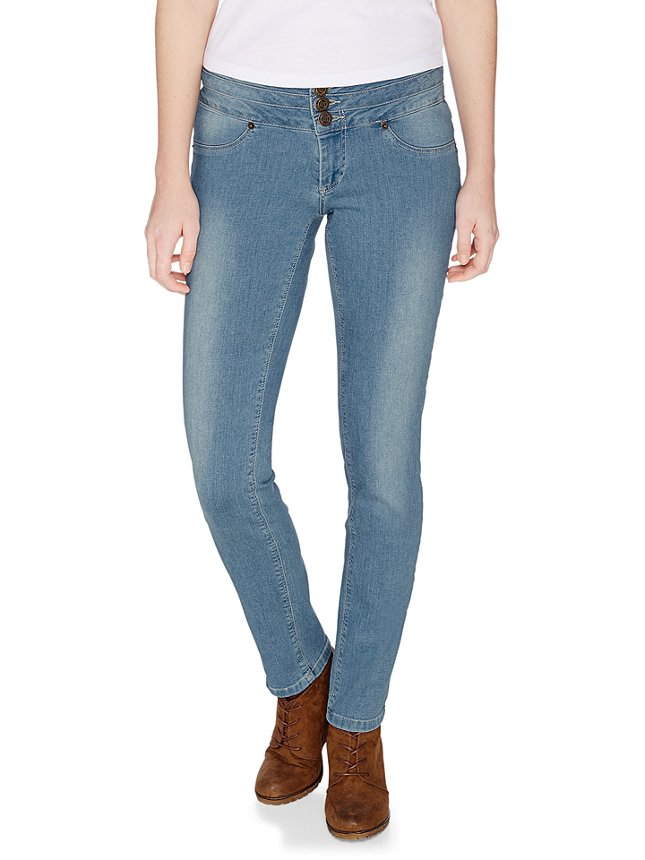 H.I.S Jeans ´´Monroe´´ - Skinny fit in Hellblau -59% | Größe 42/L33 Sale Angebote Terpe