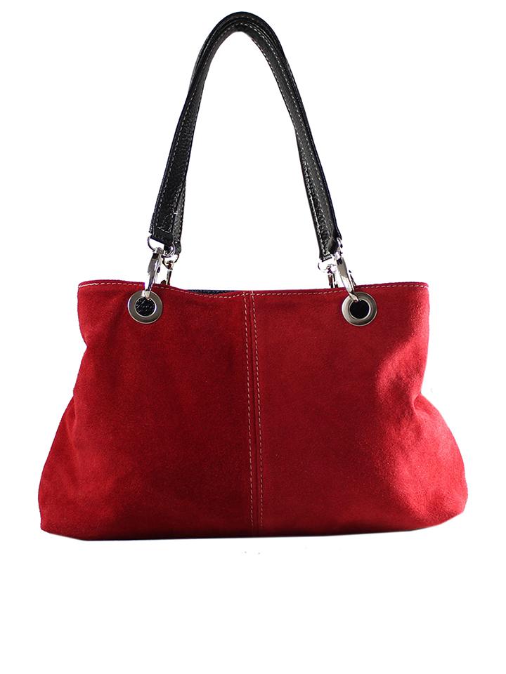 ROBERTA ROSSI Leder-Schultertasche in Rot - (B)32 x (H)20 (T)15 cm 60% | Damen taschen jetztbilligerkaufen