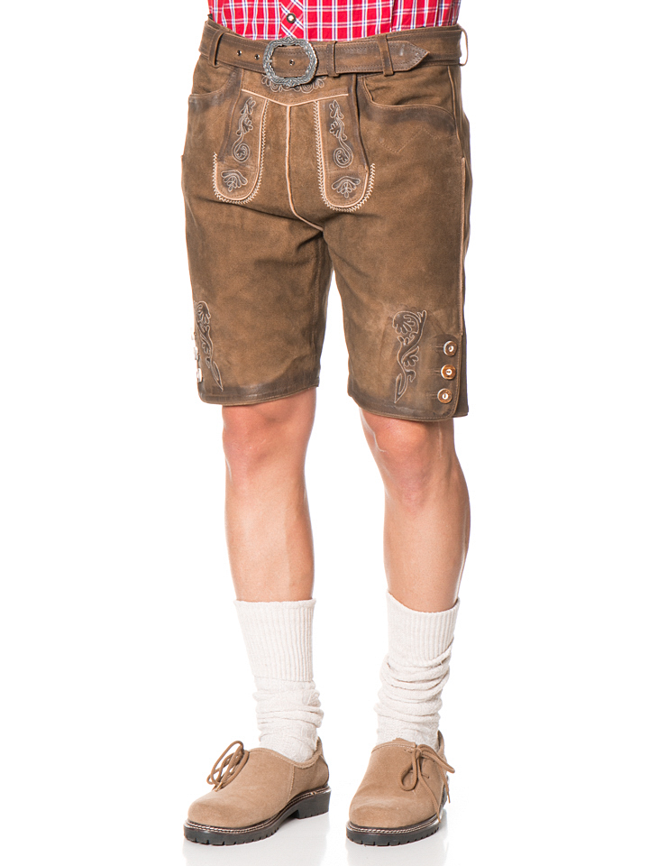 Lekra Fashion Lederhose ´´Friedel´´ in Braun -5...