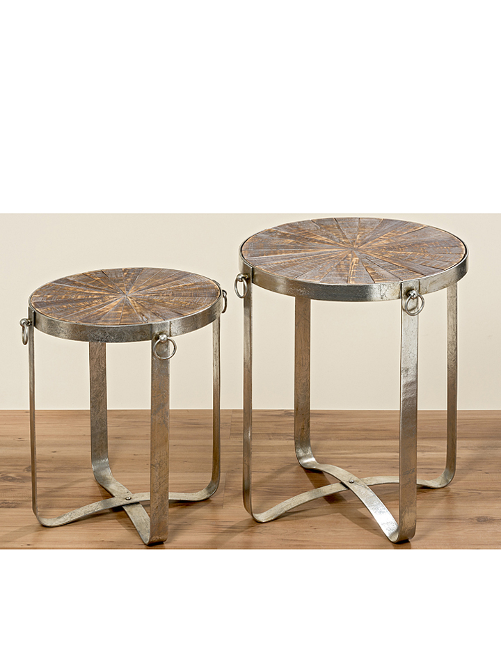 Boltze Tisch ´´Vilano´´ in Natur - H 60 x Ø 50 cm - 42 Tische