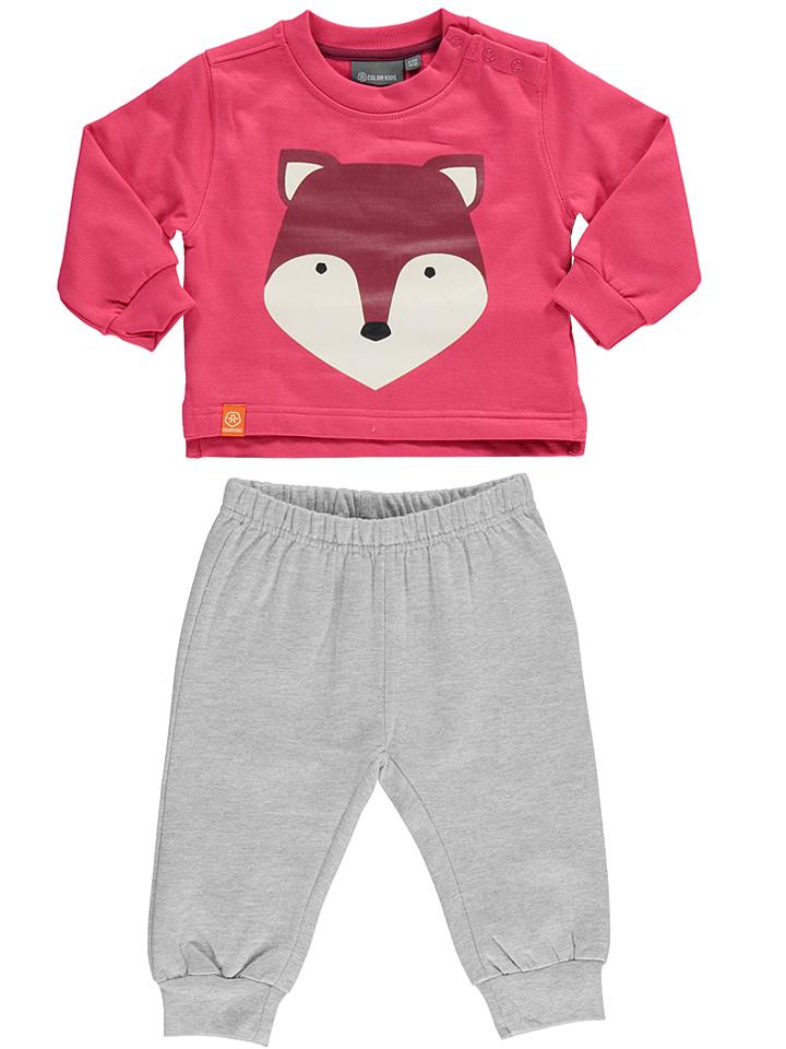 Color Kids 2tlg. Outfit ´´Villumi´´ in pink -31% | Größe 92 Sweatshirts Sale Angebote Tettau