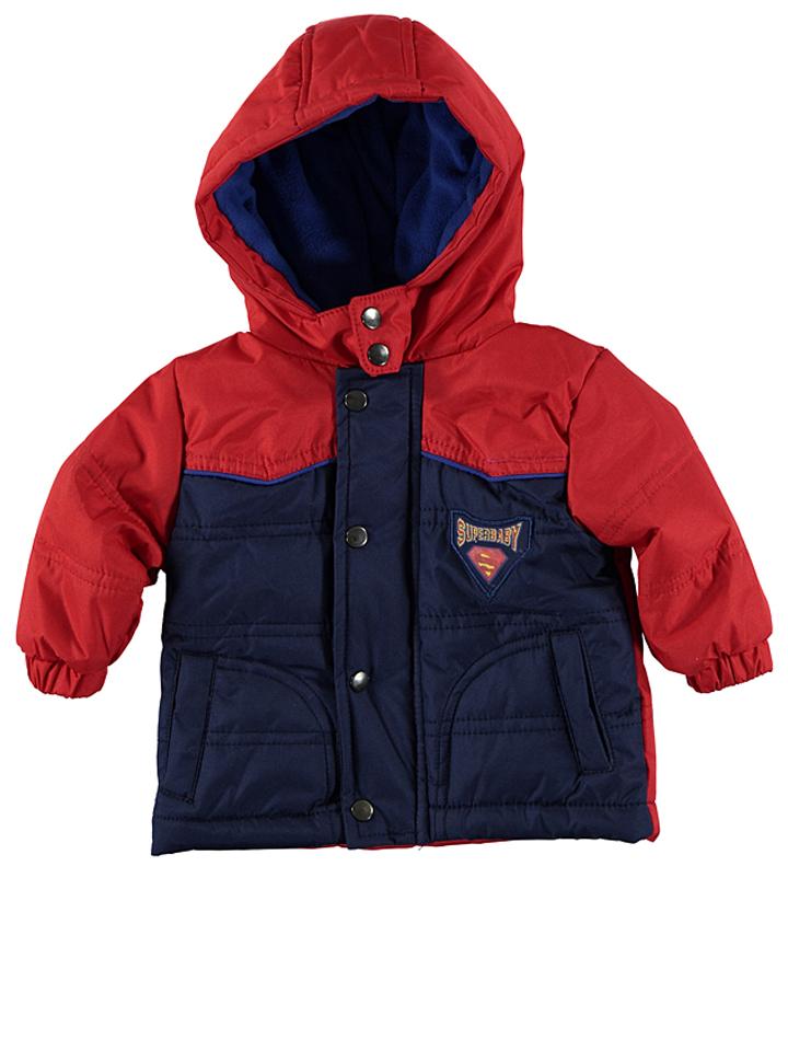 Superman Winterjacke ´´SuperBaby´´ in Rot - 47% | Größe 68 Babyjacken