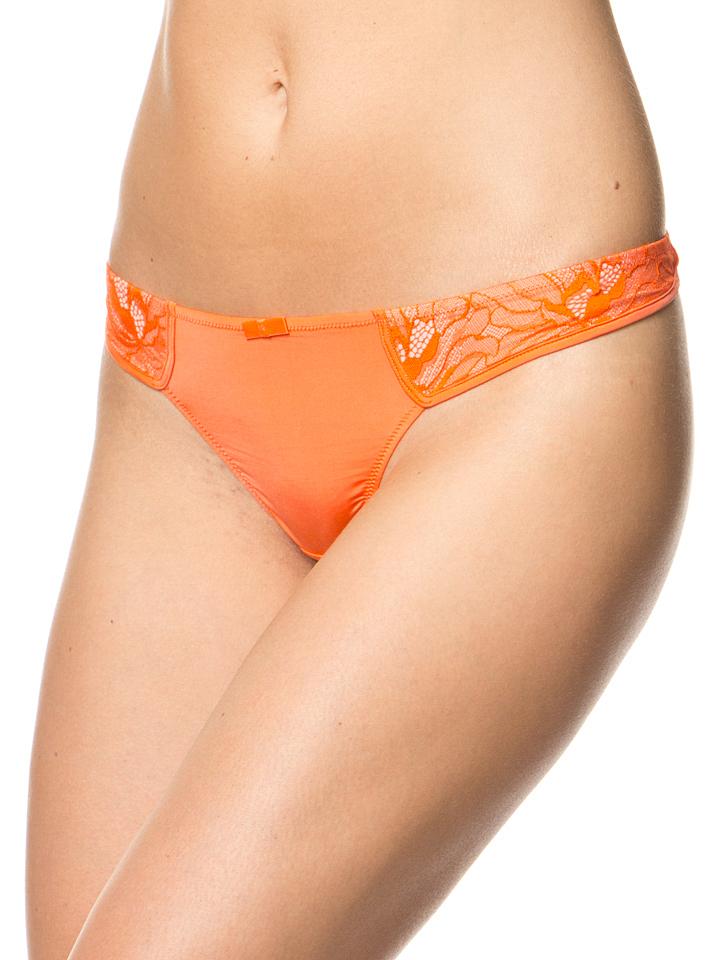 Dita von Teese String ´´Diva´´ in Orange - 66% | Größe 44 Damenwaesche