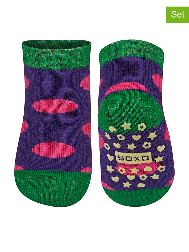 SOXO 2er-Set: ABS-Socken in lila -35% | Größe 50-80 Socken Sale Angebote Hermsdorf
