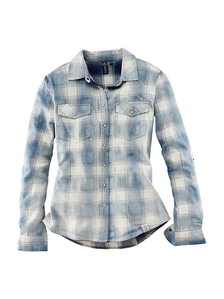 Roadsign Bluse in Hellblau - 54%   Größe XL Damen blusen