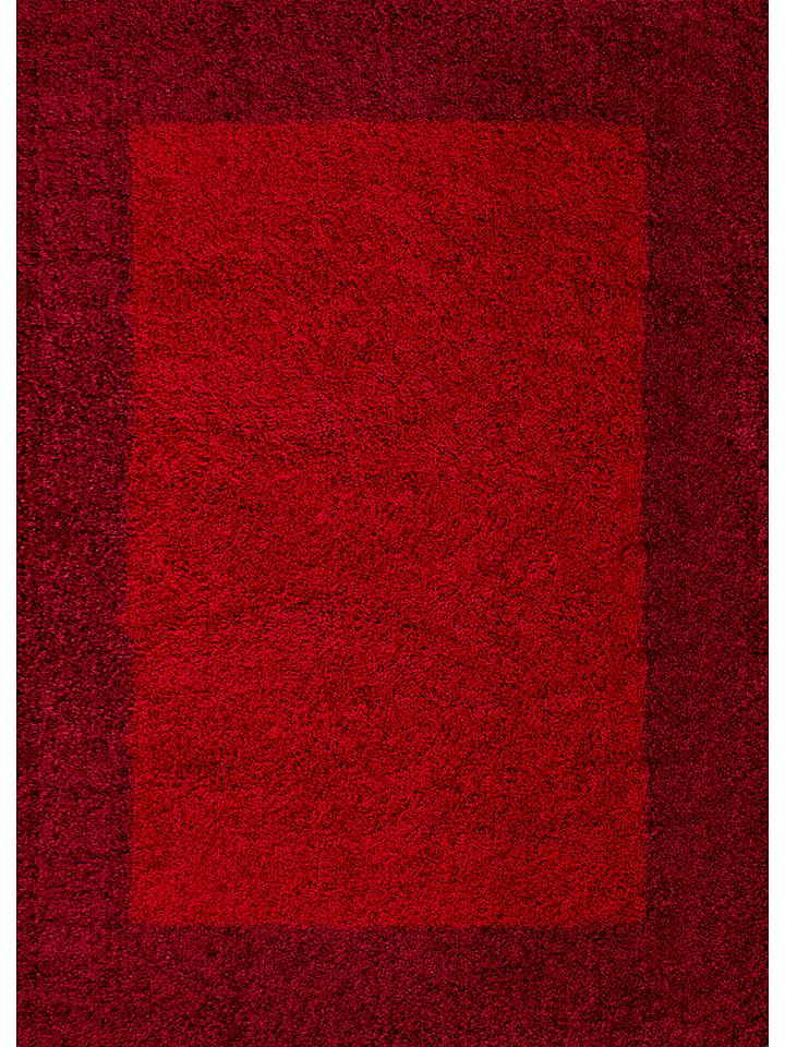 - Hochflor-Teppich ´´Life Shaggy´´ in Rot Dunkelrot -74 Größe 200x290 cm Teppiche