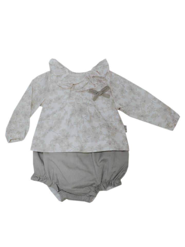 Cotton&Sugar 2tlg. Outfit in beige -48% | Größe 86 Langarm Blusen Sale Angebote