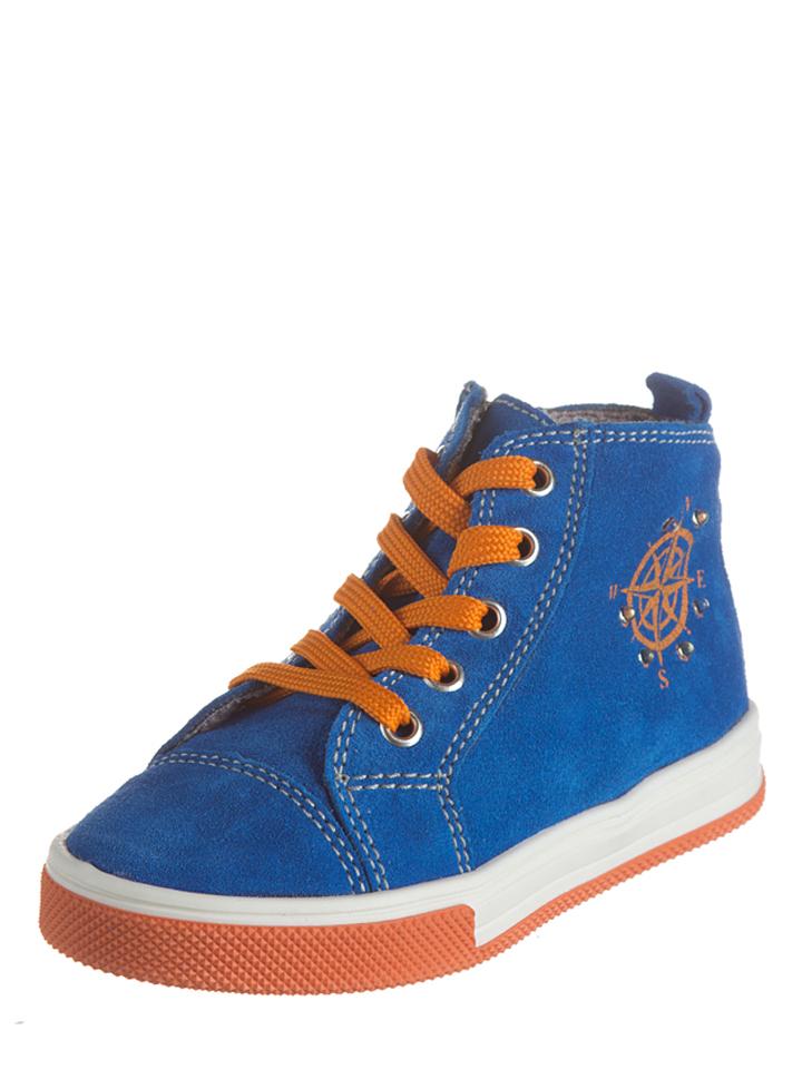 Richter Shoes Leder-Sneakers in blau -30% | Größe 26 Sneaker High Sale Angebote Gastrose-Kerkwitz