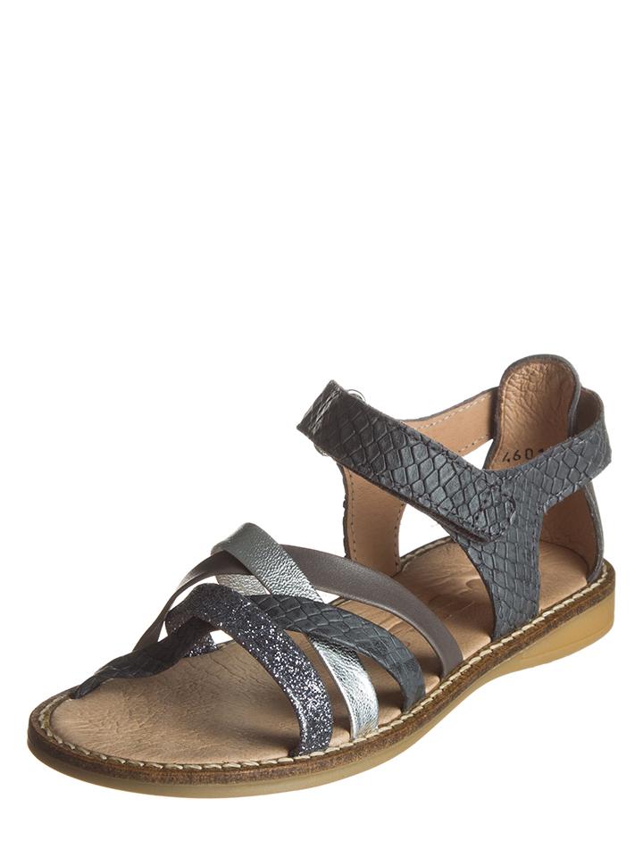 BO-BELL Leder-Sandalen in grau -53% | Größe 30 Sandalen Sale Angebote Dissen-Striesow