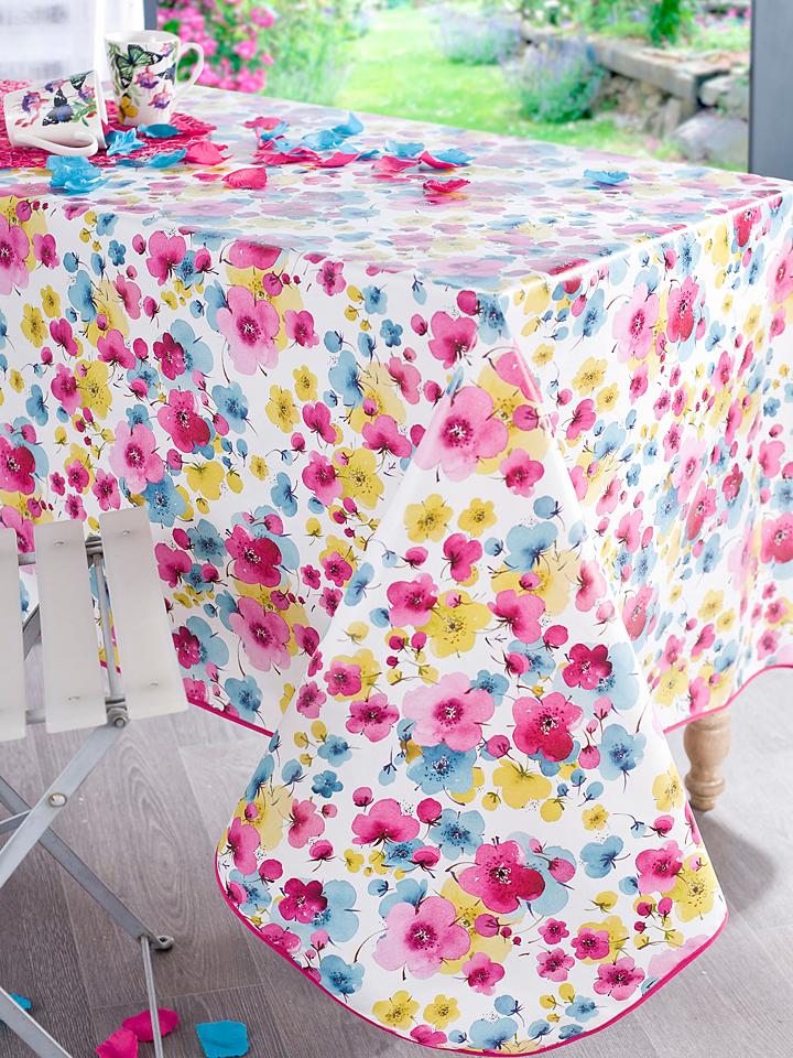 Calitex Wachstuchtischdecke ´´Multicolore´´ in Bunt -63%   Größe 140 cm Tischdecken Sale Angebote Wiesengrund