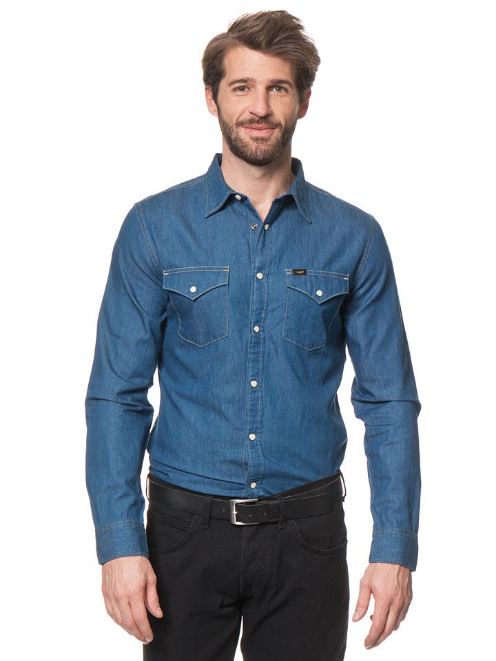 Lee Jeans Hemd ´´Western´´ in Blau -53% | Größe XXL Hemden Sale Angebote