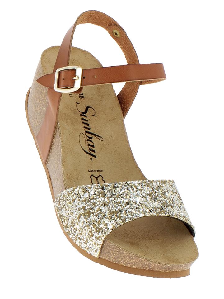 Sunbay Leder-Sandaletten in Camel - 71 Größe 37 Damen sandalen