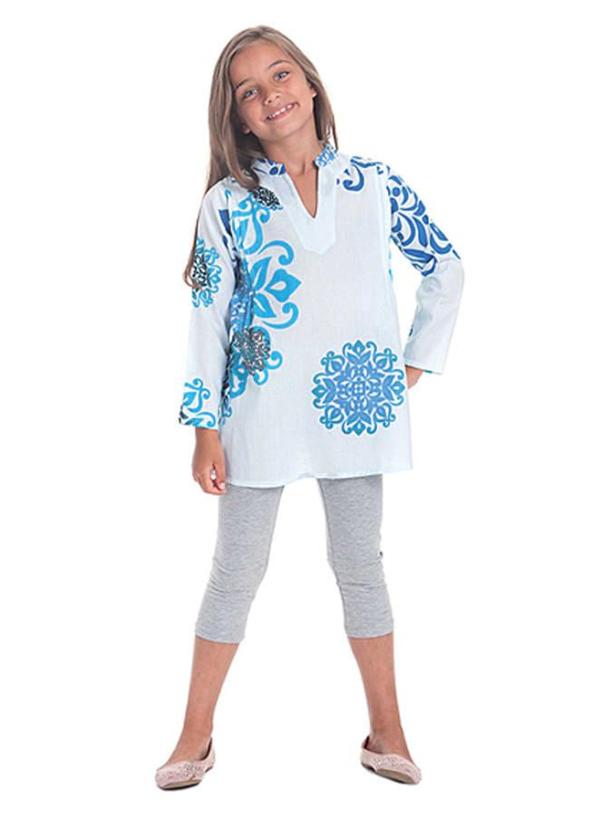 - Tunika in Weiß 50%   Größe 98/104 Kinder blusen tuniken