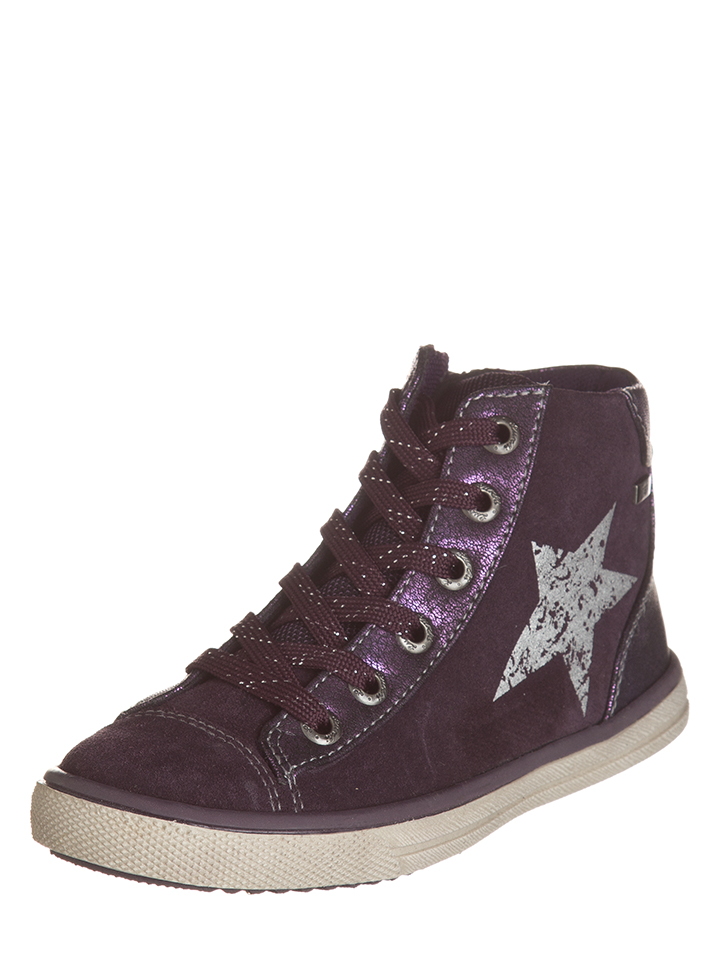 Lurchi Leder-Sneakers in Lila -35% | Größe 34 Sneaker High Sale Angebote Gastrose-Kerkwitz