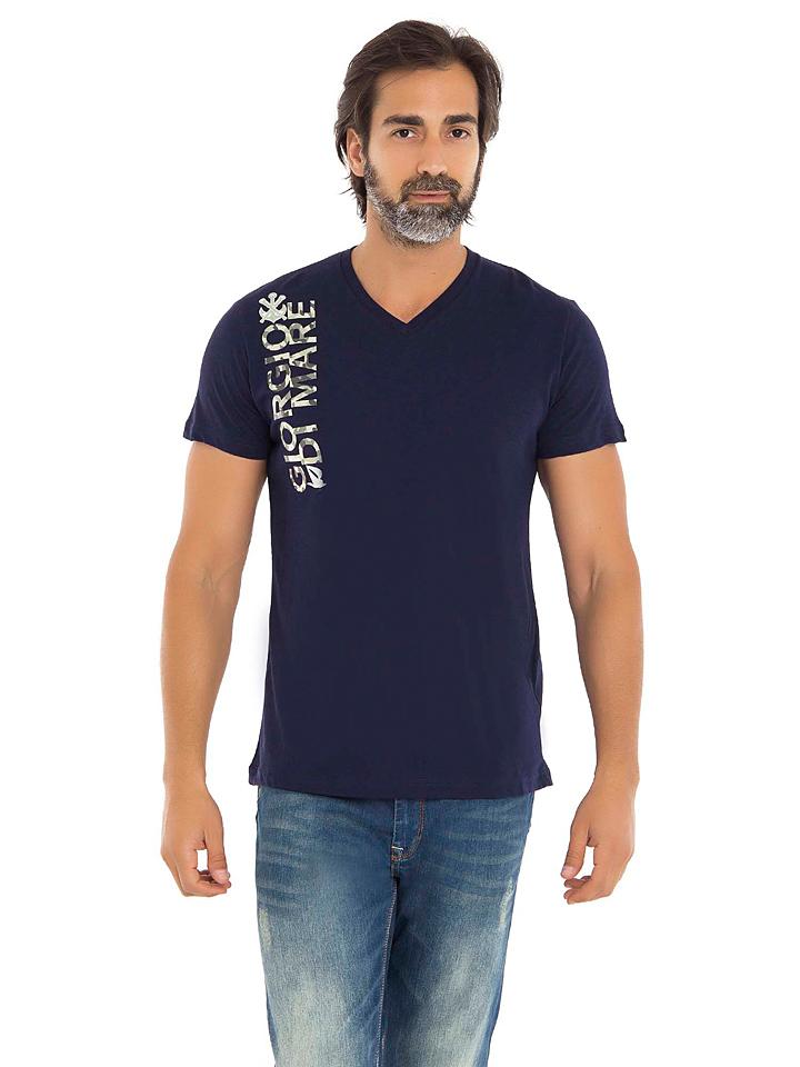 GIORGIO DI MARE Shirt in Dunkelblau - 73% | Größe S Herrenshirts