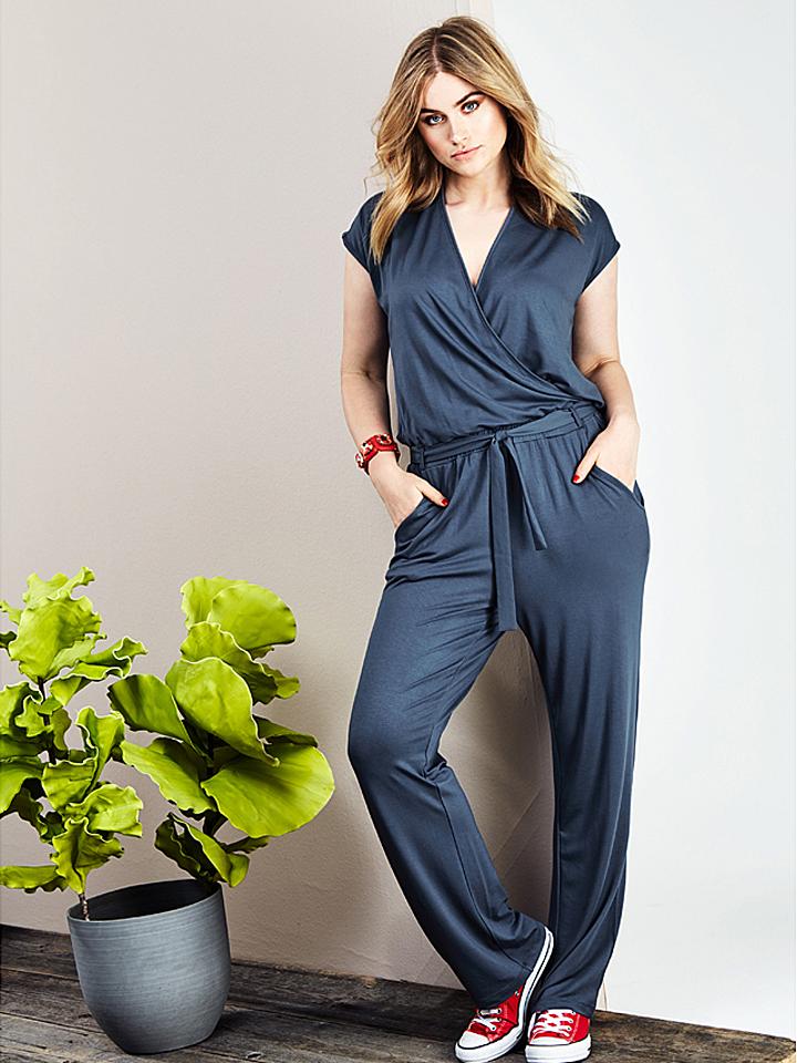 Sheego Jumpsuit in Blaugrau - 69% | Größe 48 Damenhosen