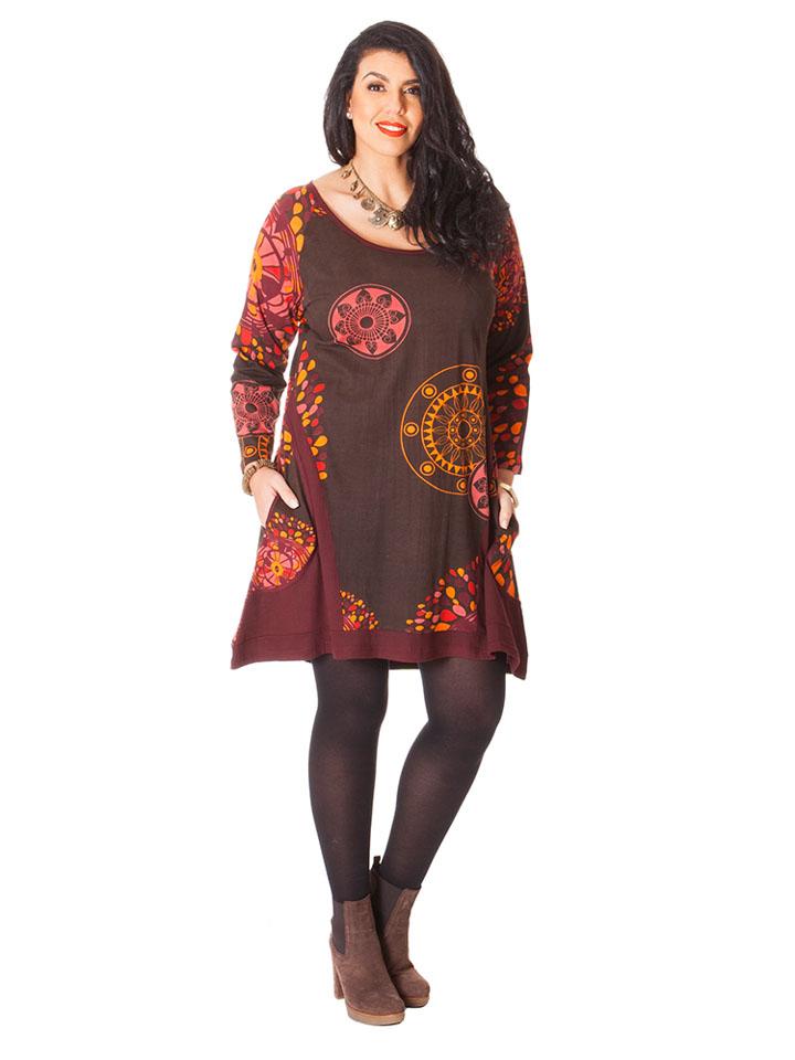 Guteborn Angebote Aller Simplement Kleid in Braun - 71% | Größe 50/52 Damen kleider