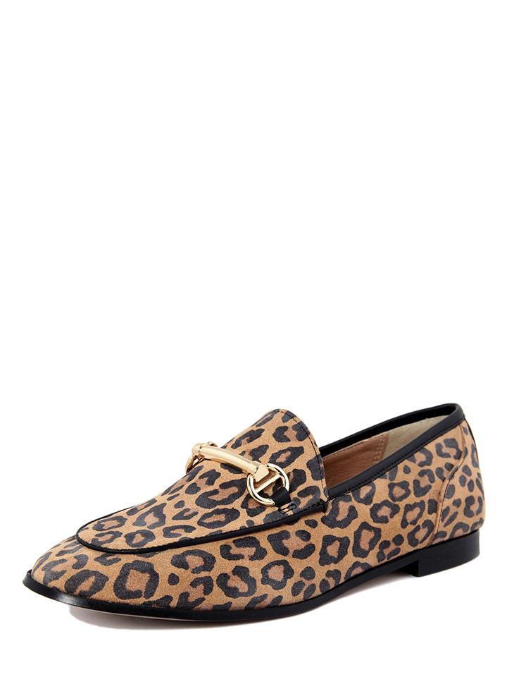 ROBERTO CARRIOLI Leder-Slipper in Hellbraun - 74%   Größe 37 Damen slipper