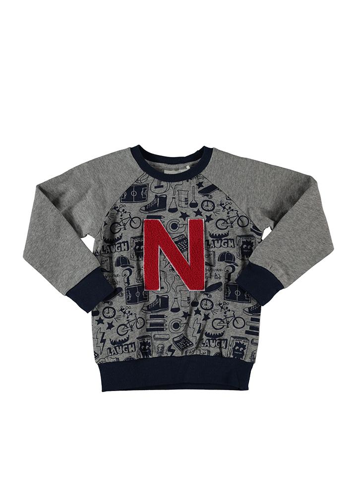 Ruhland Angebote Name it Sweatshirt ´´Cole´´ in Grau - 49% | Größe 116 Babypullover