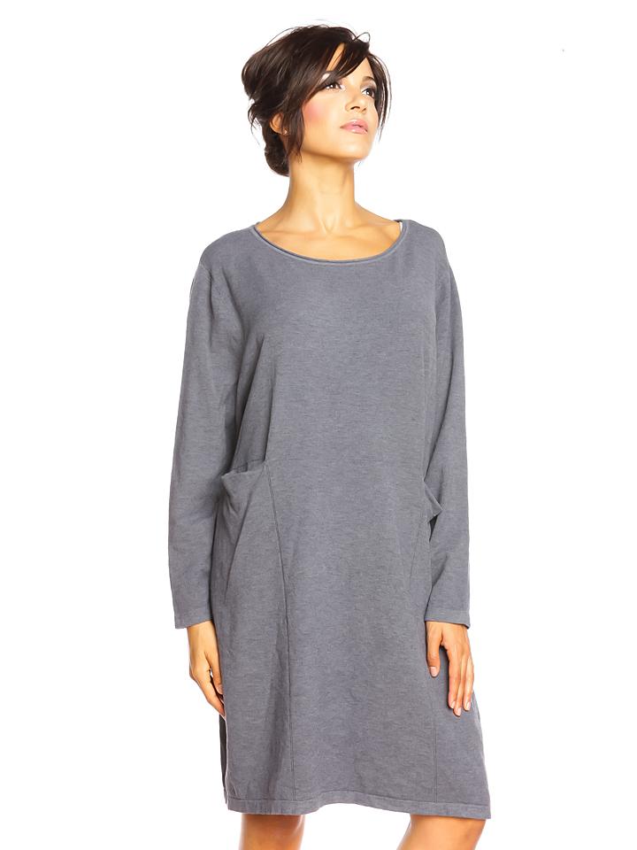 So Cachemire Kleid ´´Coblanca´´ in Grau - 70% | Größe L Damen kleider