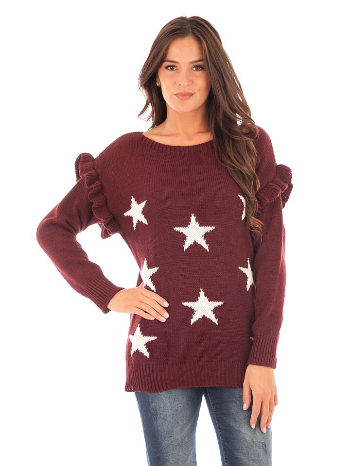 Winter Time Pullover in Bordeaux - 82% | Größe 38/40 Damen pullover