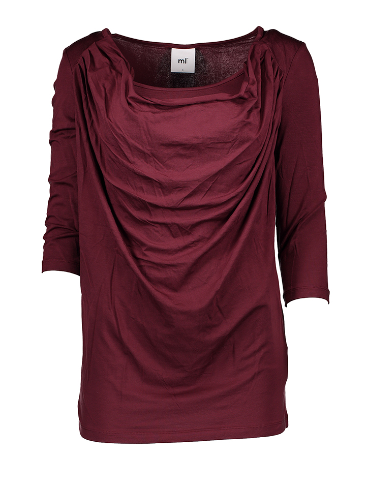Mama licious Shirt in Bordeaux - 21% | Größe XL Umstandsoberteile