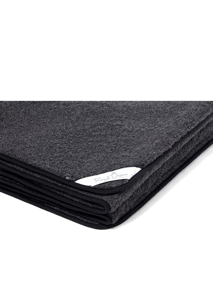 Royal Dream Woll-Decke in Schwarz - 73% | Größe...