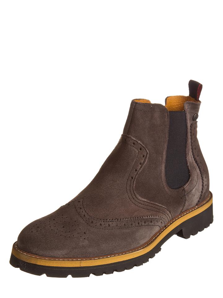 Gablenz Angebote Otto Kern Leder-Chelsea-Boots in Braun - 43% | Größe 45 Herrenstiefel