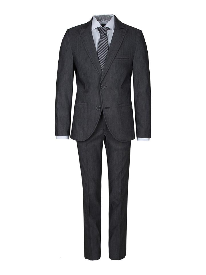 New G.O.L Anzug - Slim fit in Anthrazit 49% | Größe 188 Kinder anzuege kostueme