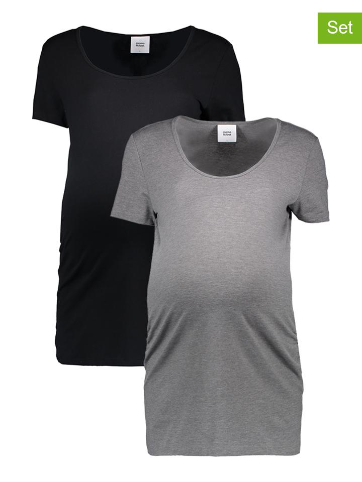 Mama licious 2er-Set Shirts in Schwarz - 54 Größe L Umstandsoberteile