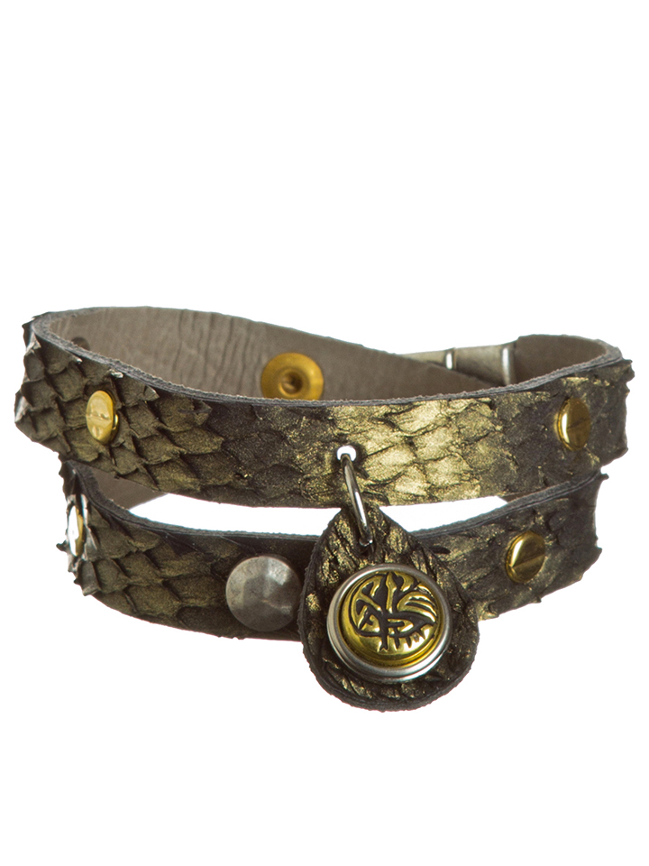 NOOSA Leder-Armband mit 1 Chunk in Gold - 60% |...