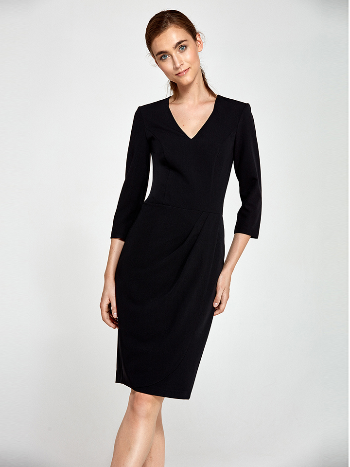 Nife Kleid in Schwarz - 64% | Größe 38 Damen kleider