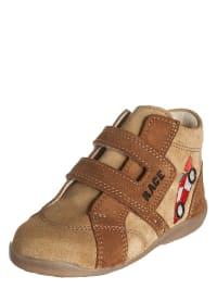 Richter Shoes Leder-Lauflernschuhe in Beige/ Hellbraun