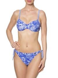 Naturana Bikini in Blau/ Weiß