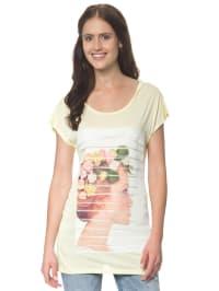"Vero Moda Shirt ""Loveable"" in Gelb/ Creme"
