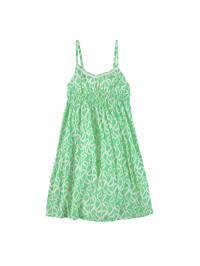 Topo Kleid in Grün/ Weiß