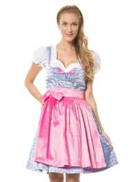 Turi Landhaus Mini-Dirndl in hellblau/ rosa