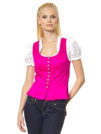 Turi Landhaus Seiden-Trachtenmieder in pink